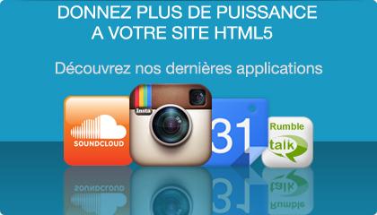 Des applications innovantes pour votre site!