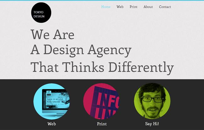Un modèle Wix à la typographie originale