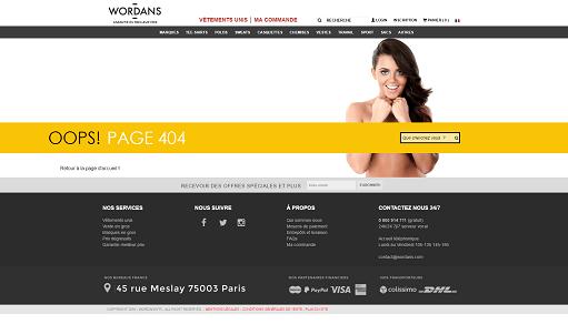Page erreur 404 créative