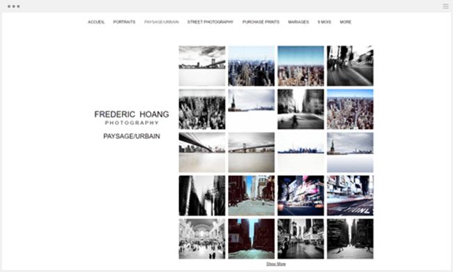 site photographie frederic hoang créé avec wix