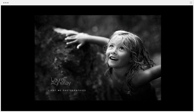 site photographie light me créé avec wix