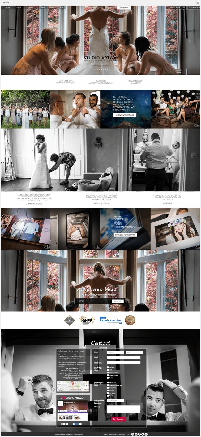 site photographie montpellier créé avec Wix