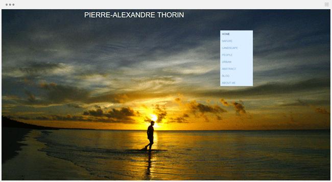 site photographie pierre-andré thorin créé avec Wix