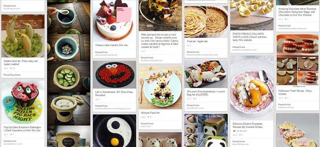 Capture d'écran de Pinterest