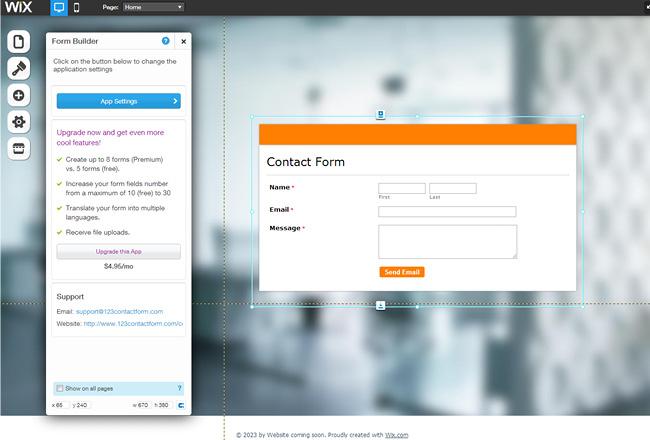 Capture d'écran du App Market - application Form builder