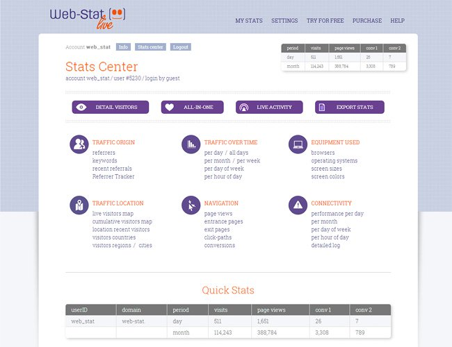 Capture d'écran du App Market - application Web-Stat
