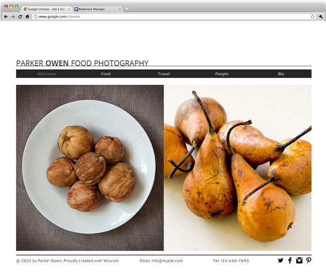 Template Wix : Food Photography