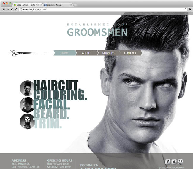 Template WIx : Male Salon