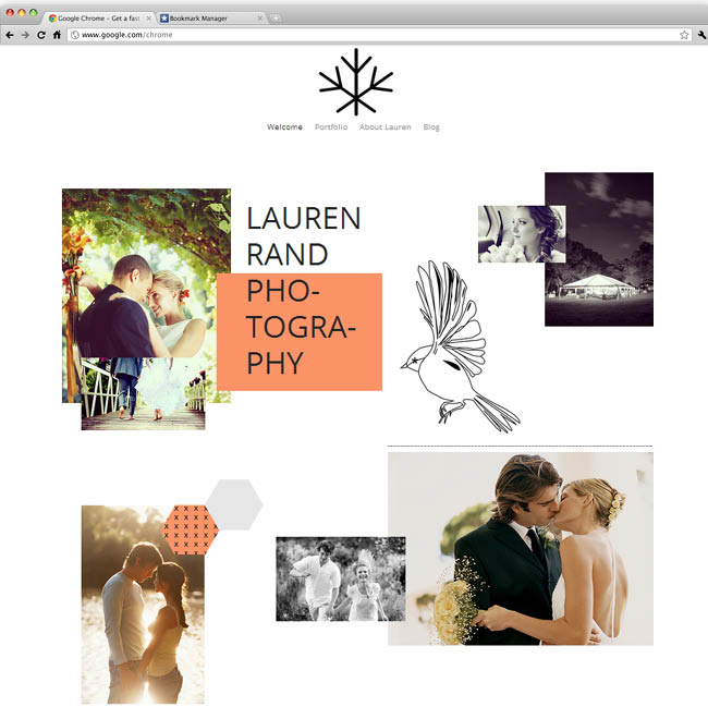 Template Wix : Romantic Photography