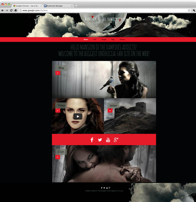 Template Wix : TV Series