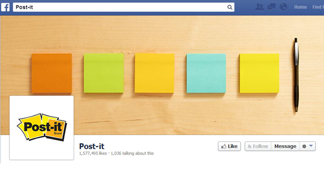 Couverture Facebook de Post-it