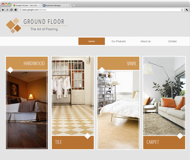 Template Wix: Flooring Company