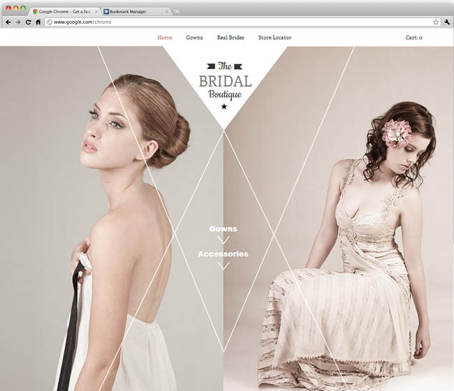 Template Wix : The bridal boutique