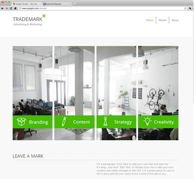 Template Wix : Advertising and Marketing Firm