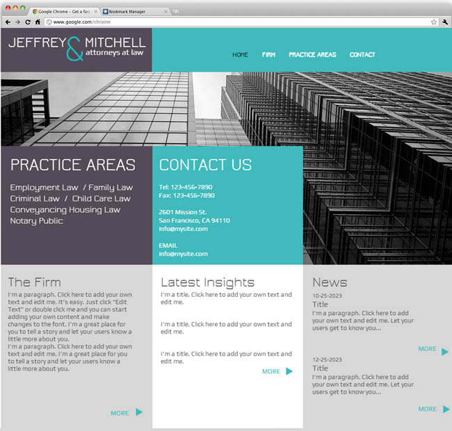 Template Wix : Law Firm