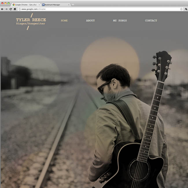 Template Wix : Singer Song writer