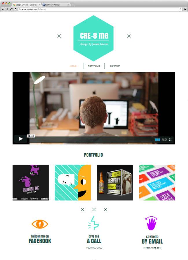 Template Wix : Graphic designer